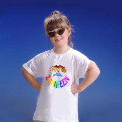 T-Shirt weiss-Motiv _Logo_a